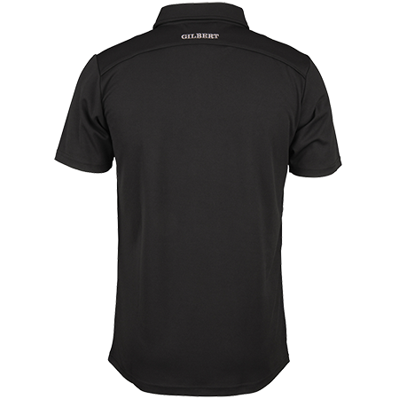Gilbert Rugby Clothing Photon Mens Polo Black, Back