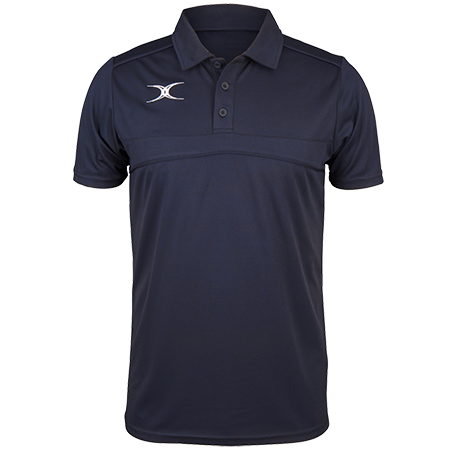 Gilbert Rugby Clothing Photon Mens Polo Dark Navy Front