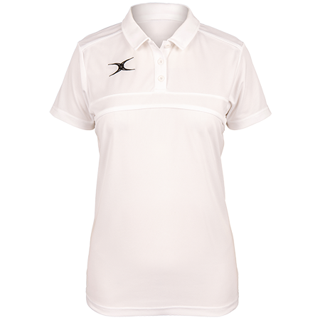 Gilbert Rugby Clothing Photon Ladies Polo White Front