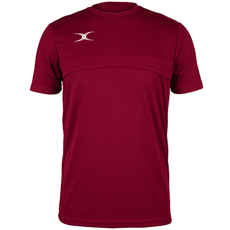 Gilbert Rugby Clothing Photon Mens Tee Maroon Front