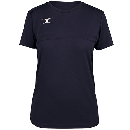 Gilbert Rugby Clothing Photon Ladies Tee Dark Navy Front