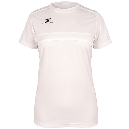Gilbert Rugby Clothing Photon Ladies Tee White Front