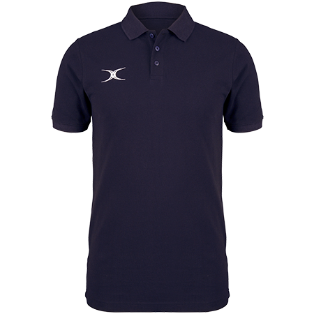 Gilbert Rugby Clothing Quest Mens Polo Dark Navy Front