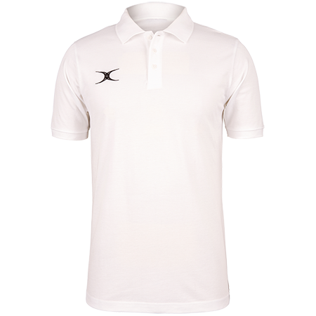 Gilbert Rugby Clothing Quest Mens Polo White Front