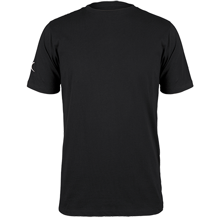 Gilbert Rugby Clothing Quest Mens Tee Black Front