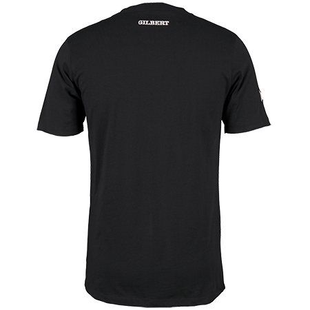 Gilbert Rugby Clothing Quest Mens Tee Black, Back