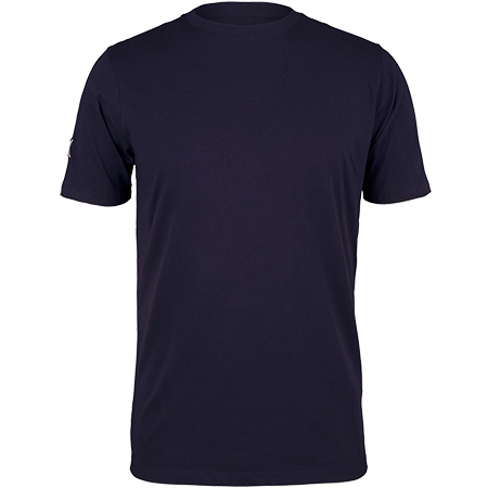 Gilbert Rugby Clothing Quest Mens Tee Dark Navy Front