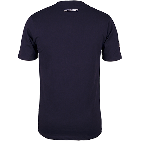 Gilbert Rugby Clothing Quest Mens Tee Dark Navy, Back