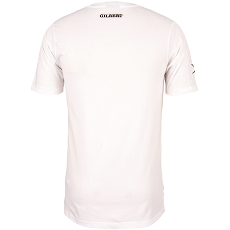 Gilbert Rugby Clothing Quest Mens Tee White, Back