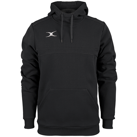 Gilbert Rugby Clothing Photon Mens Hoodie Black Front