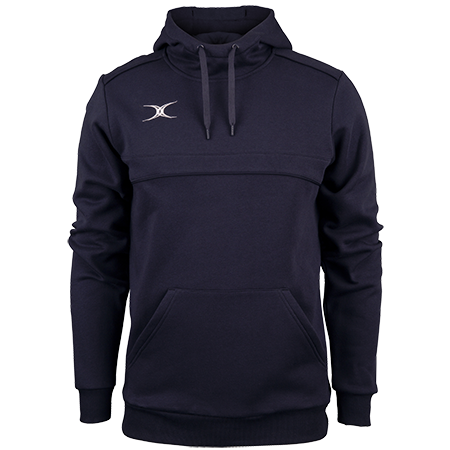 Gilbert Rugby Clothing Photon Mens Hoodie Dark Navy Front
