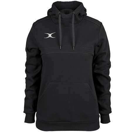 Gilbert Rugby Clothing Photon Ladies Hoodie Black Front