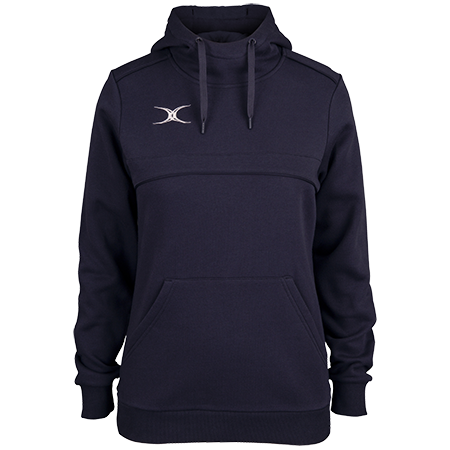 Gilbert Rugby Clothing Photon Ladies Hoodie Dark Navy Front