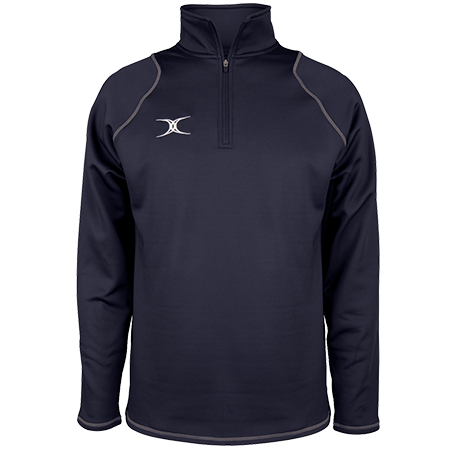 Gilbert Rugby Clothing Quest 2 Mens Quarter Zip Fleece Dark Navy Front