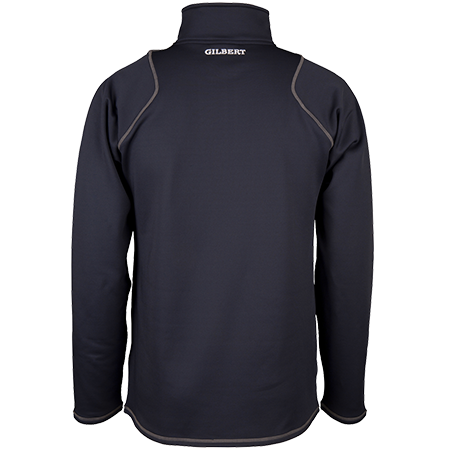 Gilbert Rugby Clothing Quest 2 Mens Quarter Zip Fleece Dark Navy, Back