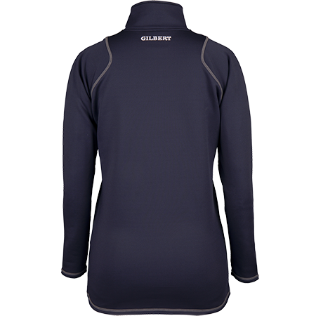 Gilbert Rugby Clothing Quest 2 Ladies Quarter Zip Fleece Ladies Dark Navy, Back