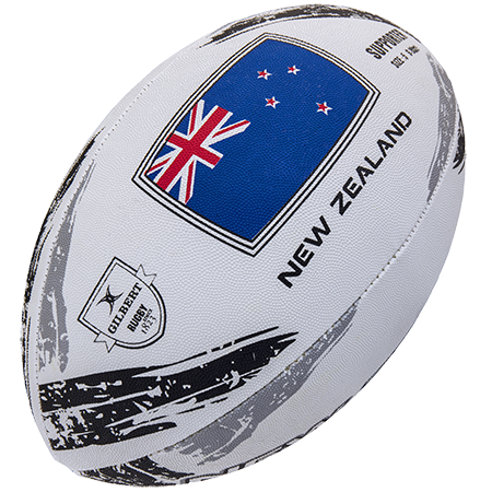Gilbert Rugby Supporter New Zealand Sz 5, Creative