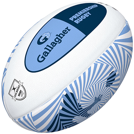 Gilbert Rugby Replica Balls Supporter Gallagher Premiership Size 5 Angle