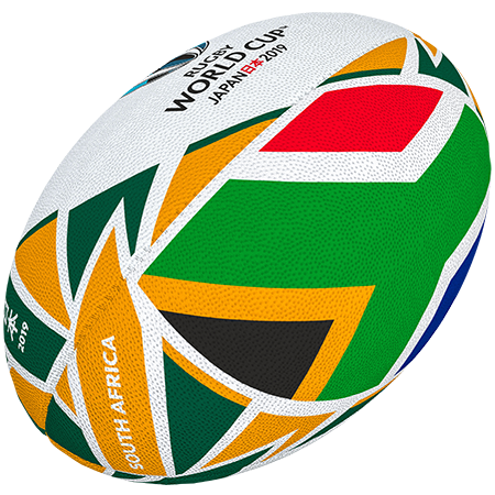 Gilbert Rugby Rwc 2019 Flag South Africa Size 5