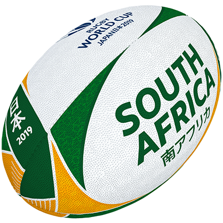 Gilbert Rugby Rwc 2019 Supporter South Africa Size 5