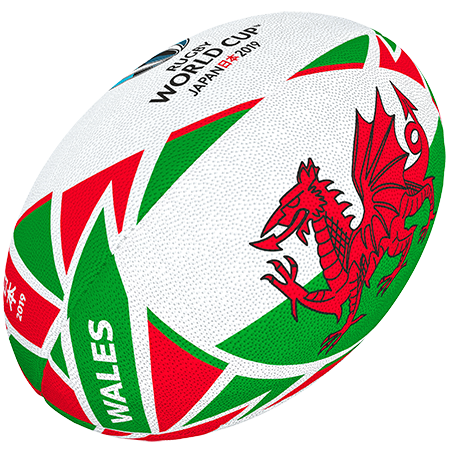 Gilbert Rugby Rwc 2019 Flag Wales Size 5