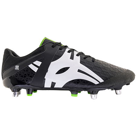 Gilbert Rugby Boots Kuro Pro L1 6 Stud Black, Outstep