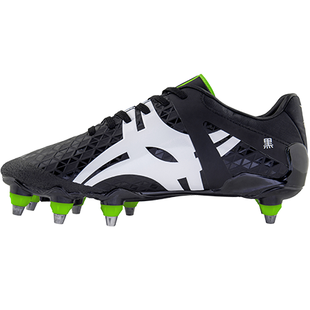 Gilbert Rugby Boots Kuro Pro 8 Stud Black, Instep