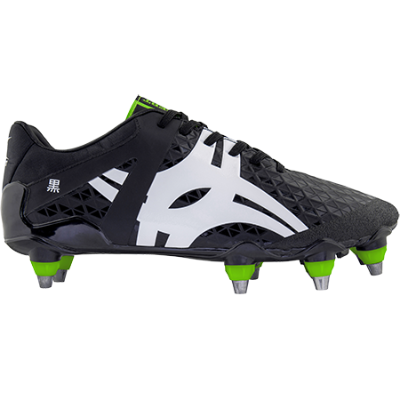 Gilbert Rugby Boots Kuro Pro 8 Stud Black, Outstep