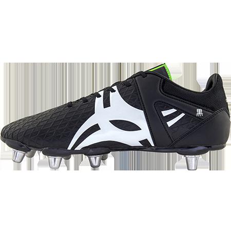 Gilbert Rugby Boots Kuro 8 Stud Black Sz 8, Instep