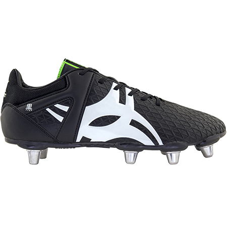 Gilbert Rugby Boots Kuro 8 Stud Black Sz 8, Outstep