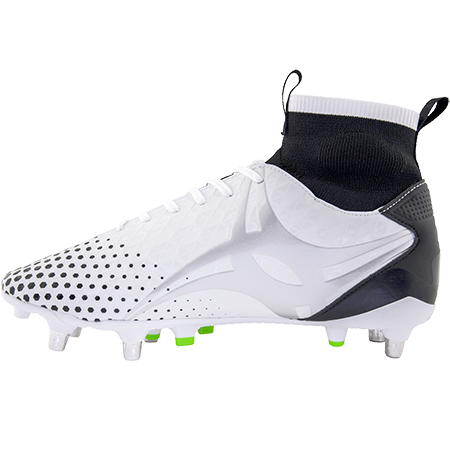 Gilbert Rugby Boots Shiro Pro 6 Stud White, Instep
