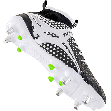 Gilbert Rugby Boots Shiro Pro 6 Stud White, Main Secondary