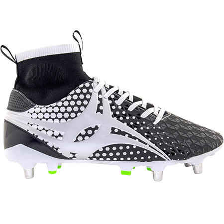 Gilbert Rugby Boots Shiro Pro 6 Stud White, Outstep