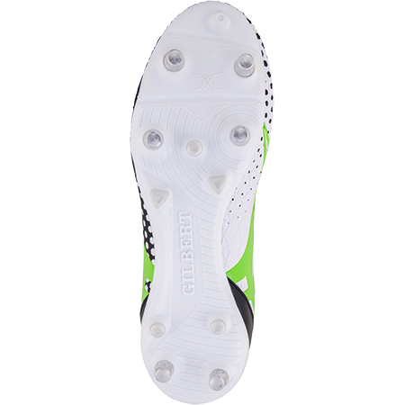 Gilbert Rugby Boots Shiro 6 Stud White Sz 8, Sole