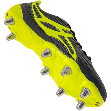 Gilbert Rugby Boots Sidestep V1 Lo8s Black_neon Yellow Main