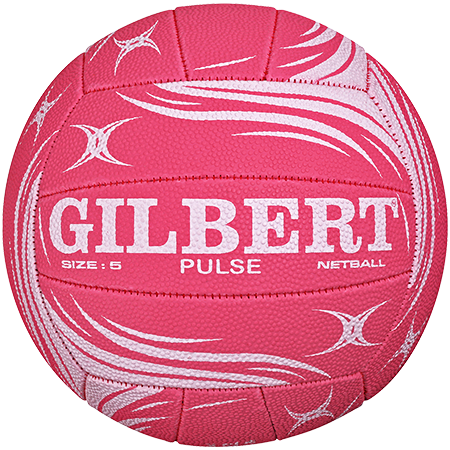 Gilbert Netball Pulse Pink White