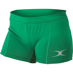 Gilbert Netball Eclipse Lycra Shorts Green