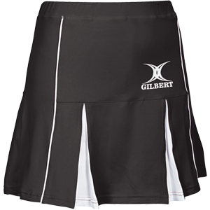Gilbert Netball Elite Skort Black White