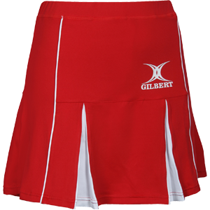 Gilbert Netball Elite Skort Red White