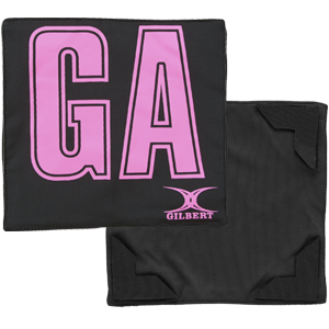 Gilbert Netball Patch Bib Black Pink