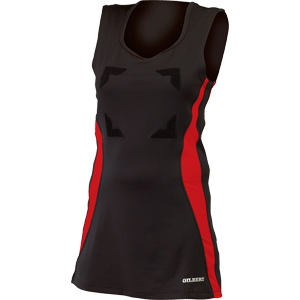 Gilbert Netball Eclipse Dress II Black Red