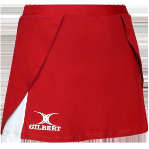 Gilbert Netball Helix Skort Red