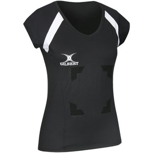 Gilbert Netball Helix Top Black with Velcro