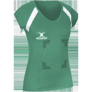 Gilbert Netball Helix Top Green with Velcro