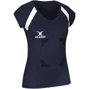 Gilbert Netball Helix Top Navy with Velcro