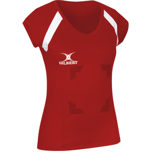 Gilbert Netball Helix Top Red with Velcro