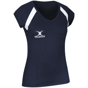Gilbert Netball Helix Top Navy