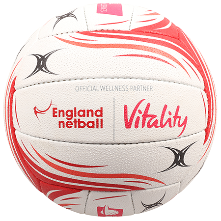 Gilbert Netball BALL SYN X5 ENG VITALITY SZ 5 england and vitality panel