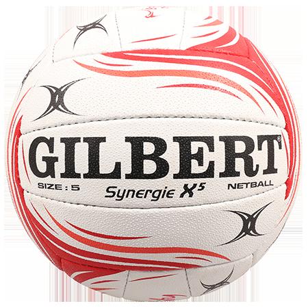Gilbert Netball BALL SYN X5 ENG VITALITY SZ 5 gilbert panel