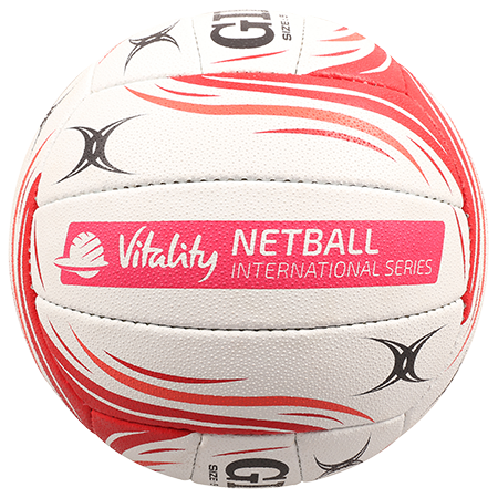 Gilbert Netball BALL SYN X5 ENG VITALITY SZ 5 international panel